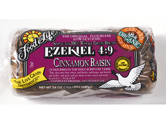 Food Life Ezekiel   Sprouted  Whole Grain Bread